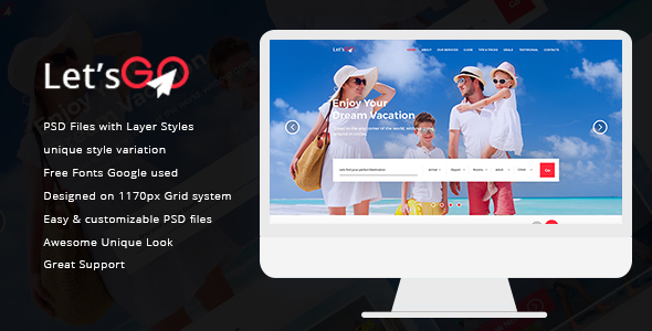 Go Style Template   Let S Go Psd Templates By Graphicalark Themeforest