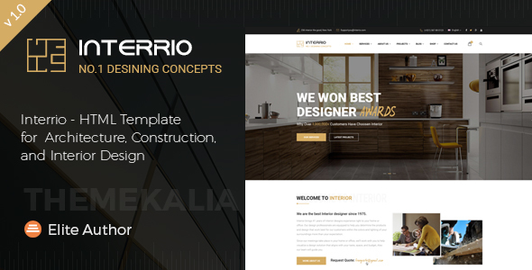 Merveilleux Interrio   HTML Template For Architecture, Construction, And Interior  Design   Business Corporate