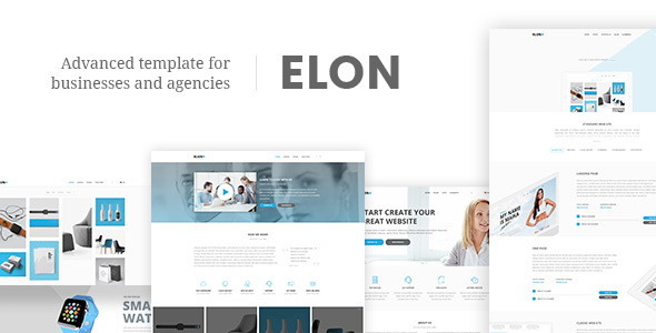 Elon - Businesses and agencies modular template by Schiocco ...