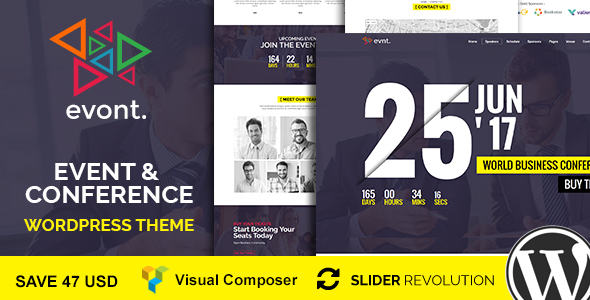 Evont - Event And Conference WordPress Theme by janxcode | ThemeForest