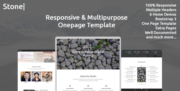 Stone responsive multipurpose one page template by trinixstudio stone responsive multipurpose one page template by trinixstudio themeforest pronofoot35fo Choice Image