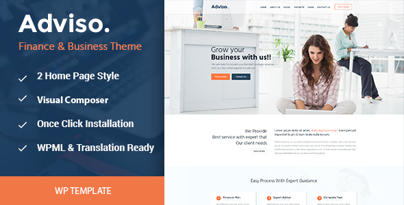 Adviso finance consulting business wordpress theme by themazine adviso finance consulting business wordpress theme business corporate accmission Image collections
