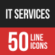 IT Services Line Filled Ico-Graphicriver中文最全的素材分享平台