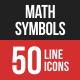 Math Symbols Line Filled Ic-Graphicriver中文最全的素材分享平台
