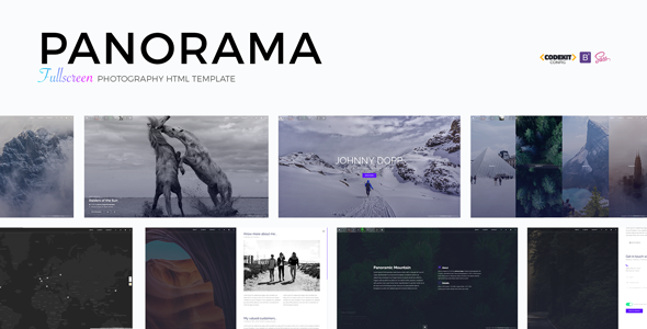 panorama fullscreen photography html template by madeon08
