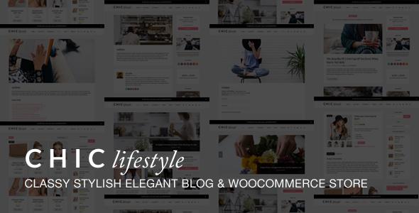 chic responsive blog  u0026 woocommerce wordpress theme by
