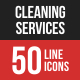 Cleaning Services Line Fill-Graphicriver中文最全的素材分享平台