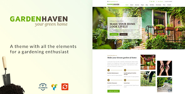 Gardening   Lawn, Garden Landscaping Theme   Business Corporate