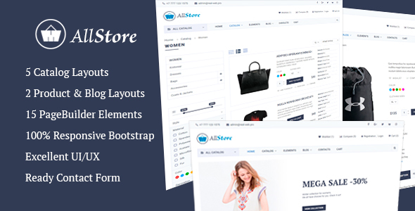 AllStore - MultiConcept eCommerce Shop Template by real-web ...