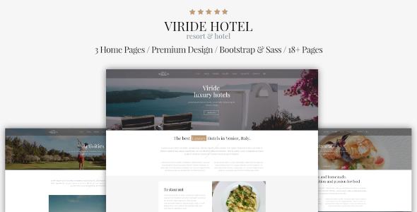 Viride   Hotel U0026 Resort Premium HTML Template   Travel Retail