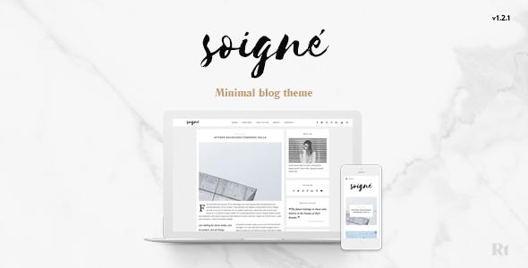 Soigne - A Responsive Minimal WordPress Blog Theme by RevolveThemes