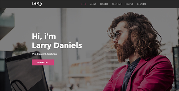 Larry   Personal Onepage Template   Personal Site Templates