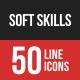 Soft Skills Filled Line Ico-Graphicriver中文最全的素材分享平台