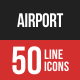 Airport Filled Line Icons-Graphicriver中文最全的素材分享平台