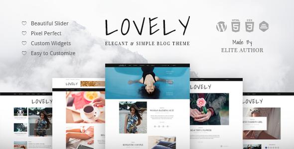 lovely elegant simple blog theme by themewaves themeforest