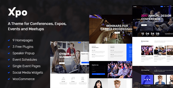 Xpo - A Theme for Conferences, Expos, Events and Meetups by Edge-Themes