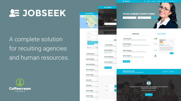 jobseek - job board html template free download  Jobseek - Job Board WordPress Theme by Coffeecream | ThemeForest
