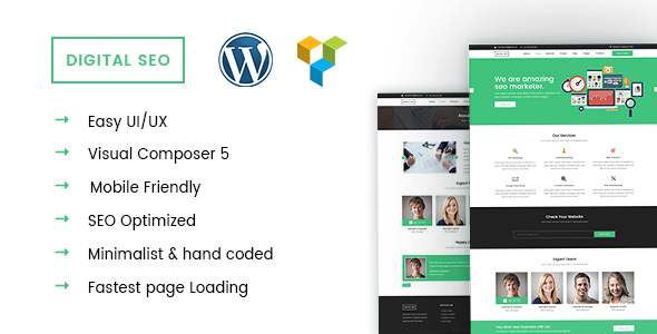 DigitalSEO - Marketing & SEO WordPress theme by crazycafe | ThemeForest