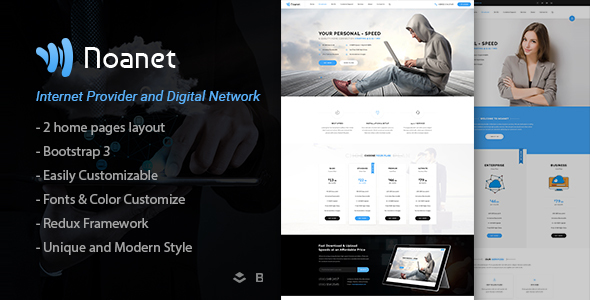 Noanet | Internet Provider And Digital Network WordPress Theme by ApusWP