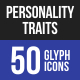 Personality Traits Glyph Ic-Graphicriver中文最全的素材分享平台