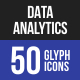 Data Analytics Glyph Icons-Graphicriver中文最全的素材分享平台