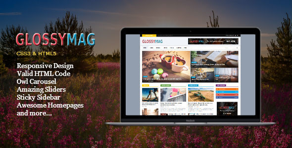 Glossy mag news magazine html template by fbtemplates themeforest glossy mag news magazine html template entertainment site templates maxwellsz