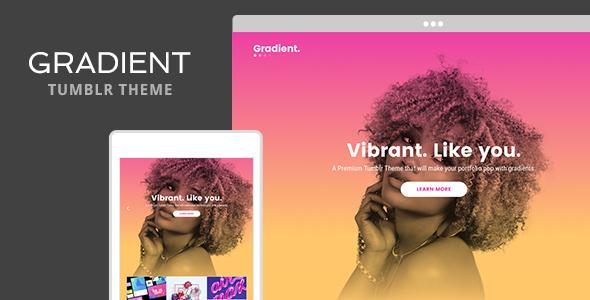 Gradient Tumblr Theme by themelantic | ThemeForest