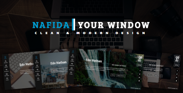 NAFIDA- Personal Business Card Template by linxtheme | ThemeForest
