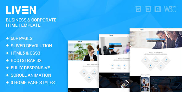 Liven modern corporate business portfolio html5 template by liven modern corporate business portfolio html5 template corporate site templates friedricerecipe Choice Image
