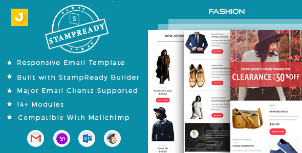 Fashion Email Marketing Template By Jyostna ThemeForest - Web design email marketing templates