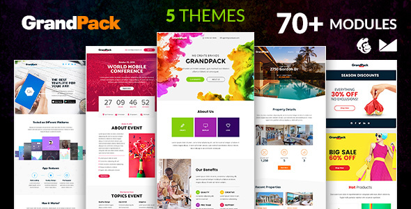 grandpack email template online emailbuilder 2 1 by web4pro