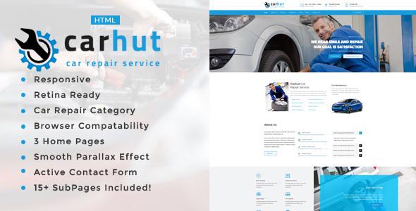 car hut auto mechanic car repair template by template path