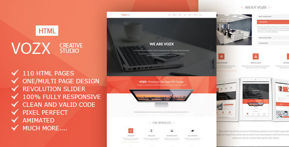 Vozx multipurpose business html5 template by ab themes themeforest vozx multipurpose business html5 template business corporate friedricerecipe