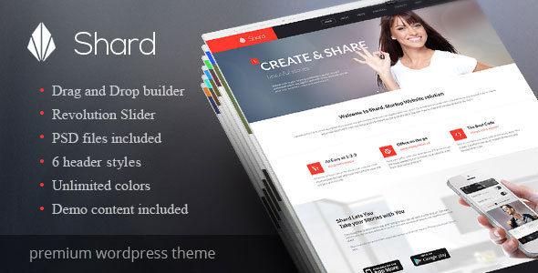 shard multipurpose business parallax wp theme by ab themes