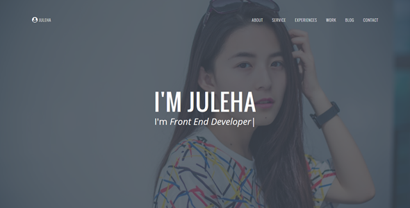 juleha one page resume template by anarchyta themeforest - Template Of A Resume