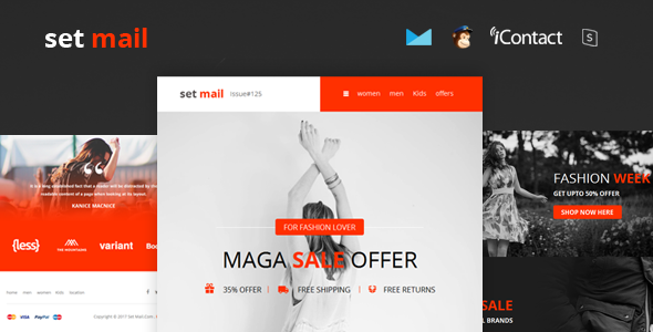 Set Mail - Responsive E-mail Template + Online Access by ...