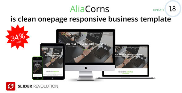Aliacorns onepage html5 responsive business template by codecorns aliacorns onepage html5 responsive business template corporate site templates maxwellsz