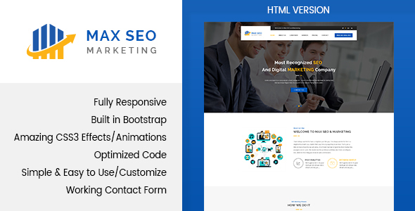 Max seo seo marketing html template by themewisdom themeforest pronofoot35fo Images