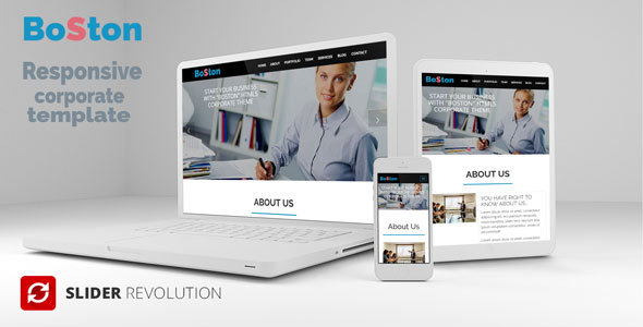 Boston - Onepage Responsive Corporate Template by CodeCorns ...