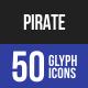 Pirate Glyph Icons-Graphicriver中文最全的素材分享平台