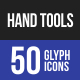 Hand Tools Glyph Icons-Graphicriver中文最全的素材分享平台