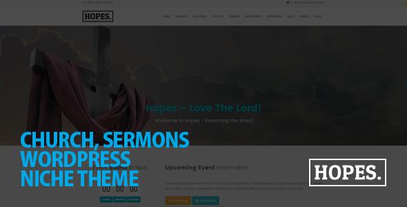 Hopes - Church & Multi-Purpose WordPress Theme by AivahThemes ...