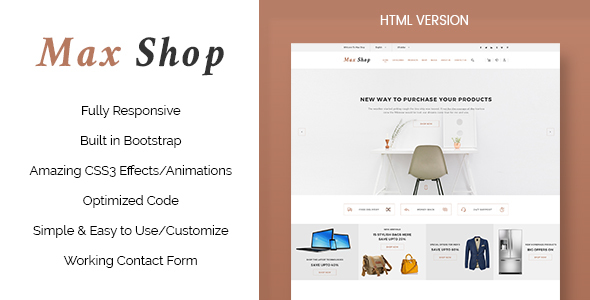 Max Shop - Ecommerce HTML Template by ThemeWisdom | ThemeForest