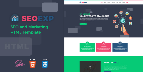 Seoexp seo and marketing html template by hastech themeforest seoexp seo and marketing html template marketing corporate maxwellsz