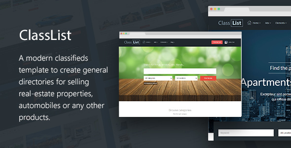 Classlist - Directory/Classifieds Listing Template By Smartik