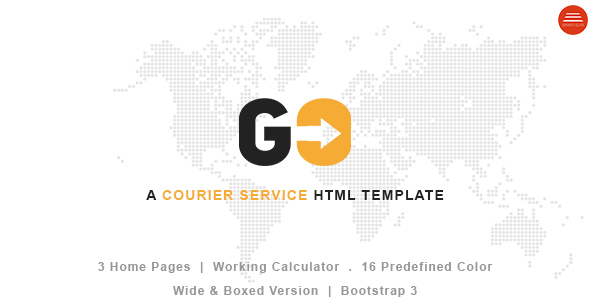 go a courier delivery service html template by plexdesigns