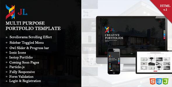 JL Portfolio   Creative Company Portfolio Responsive HTML5 Template By  Justlabtech  Company Portfolio Template