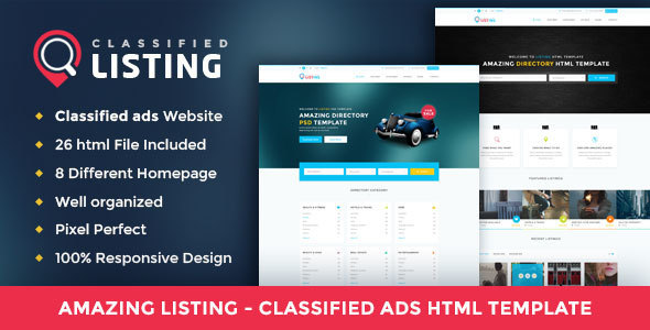 Listing - Classified Ads Directory HTML Template by DesignsVilla ...