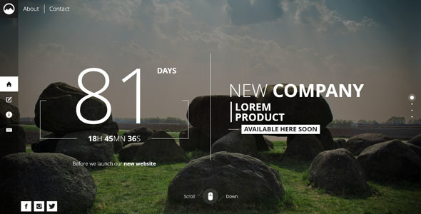 Timex creative template for coming soon page by mivfx themeforest timex creative template for coming soon page under construction specialty pages maxwellsz