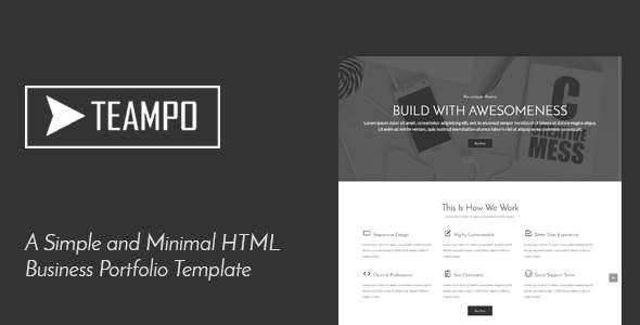 Tempo one page business portfolio html template by f4h3m themeforest tempo one page business portfolio html template portfolio creative flashek Images